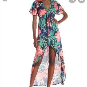 4SI3NNA Floral Satin Dress
